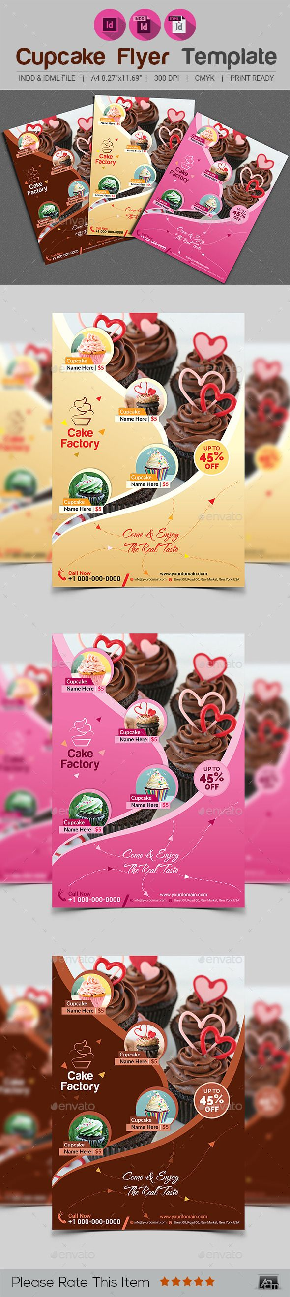 Cupcake Flyer Template V2 19 best Restaurant
