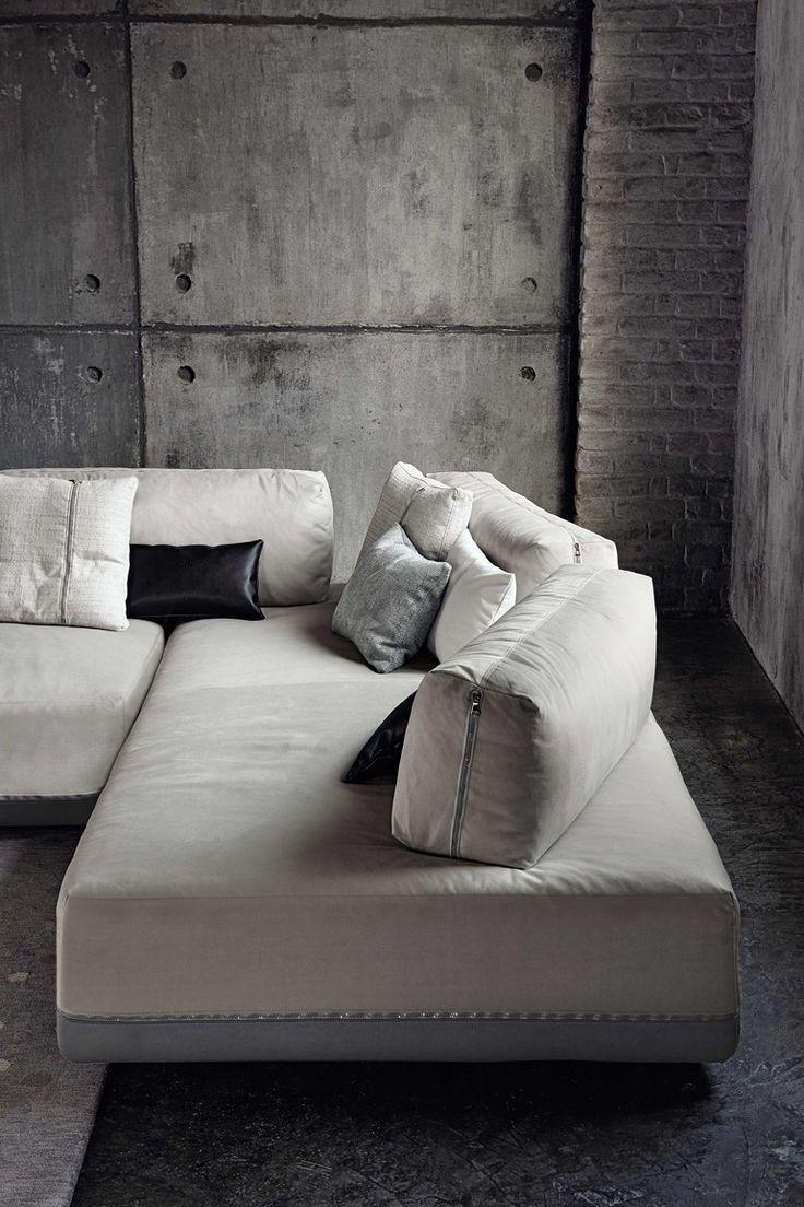 Modular fabric sofa SANDERS   Modular sofa - @ditreitalia