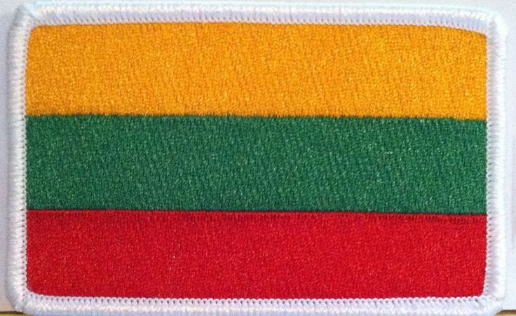 LITHUANIA Flag Military Patch With VELCRO® Brand Fastener White Border #5 #FastServiceDesigns #Patches