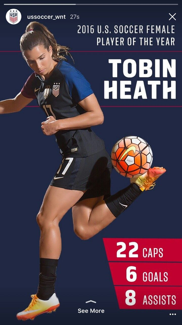 Tobin Heath Player of the year 2016