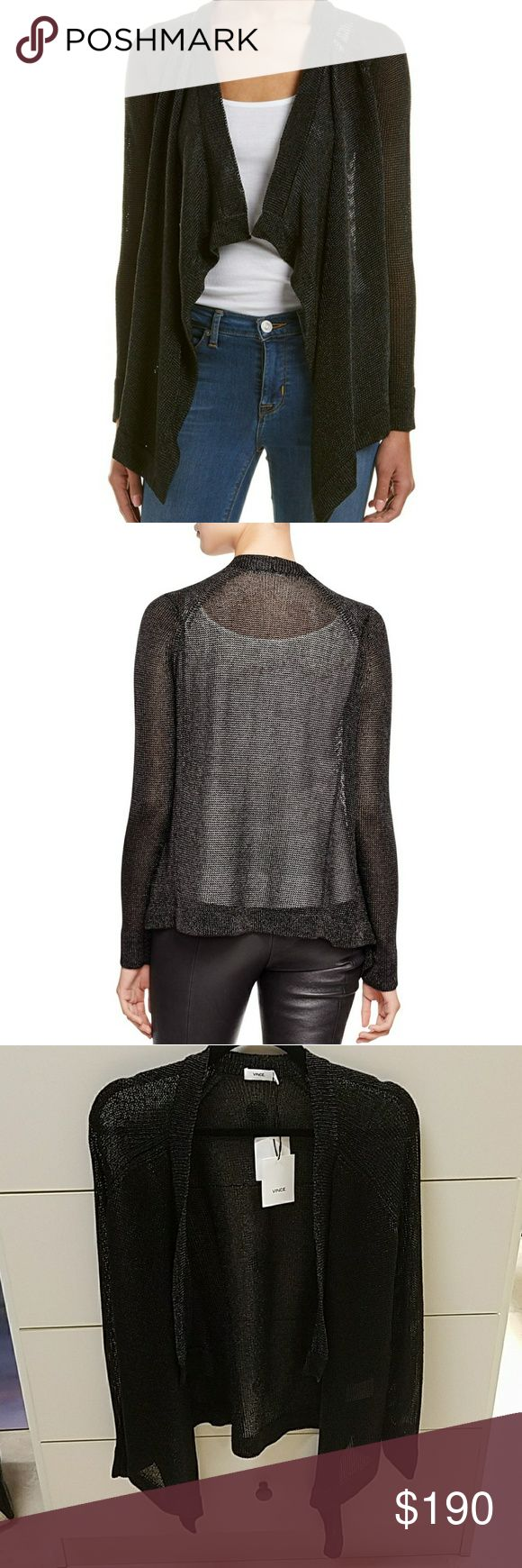 Vince metallic cardigan This is so rock-n-roll! It's a unique metallic texture you don't be able to keep your hands off! vince Sweaters Cardigans