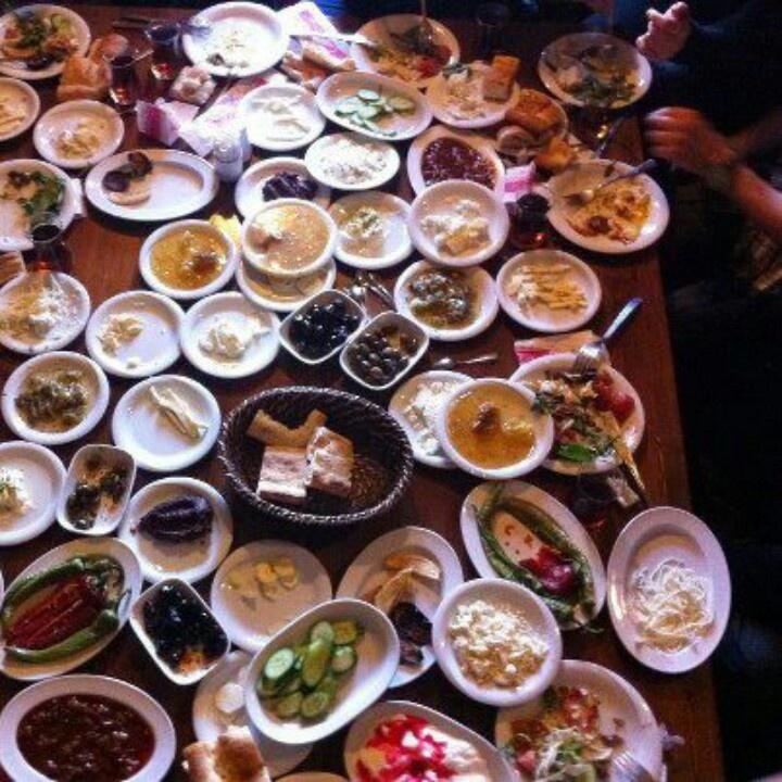 Turkish Breakfast - A BIG Turkish breakfast! :)