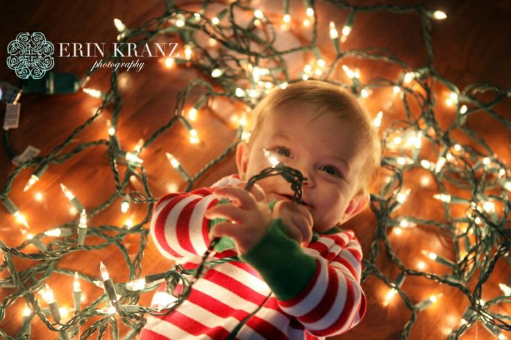 Baby's first Christmas shoot - Erin Kranz Photography