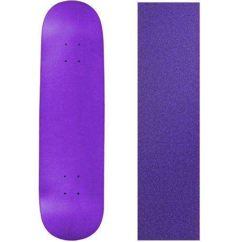 Blank Skateboard Deck - Neon Purple - 8.25' Purple Grip