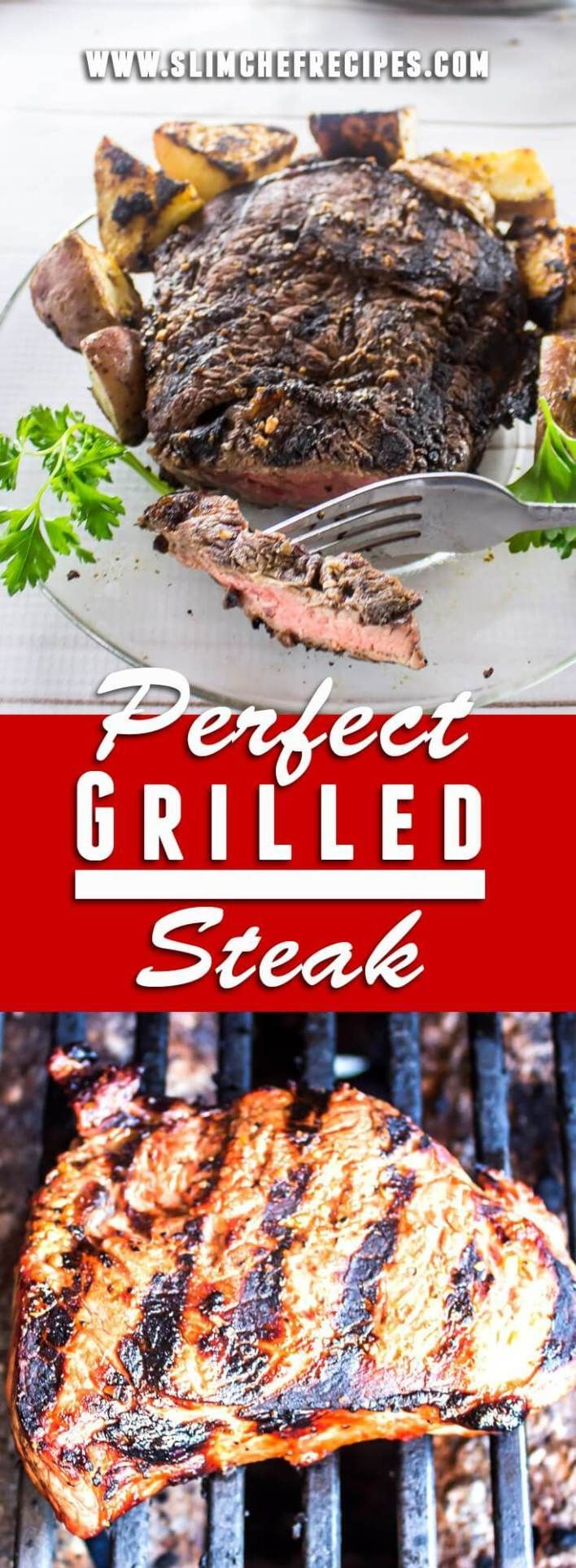 The perfect sirloin or ribeye starts with the best marinade, rub or seasoning. For tender restaurant quality steak, cook over a gas or charcoal grill and skip the oven. Get the temperature hot for beautiful grill marks.@slimchefrecipes.com