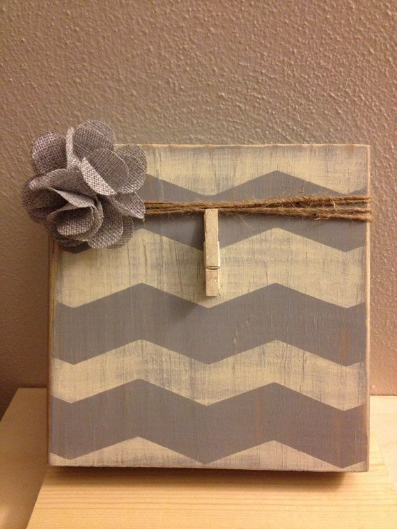 Distress Painted Grey and Antique White Wood by DefinitelyDenise