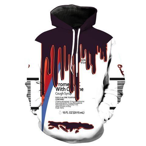 Promethazine With Codeine Cough Syrup Hoodie - JAKKOUTTHEBXX - JAKKOU††HEBXX