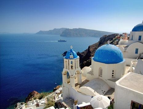 Encante-se pela beleza de #Santorini, IlhasGregas, #Grecia