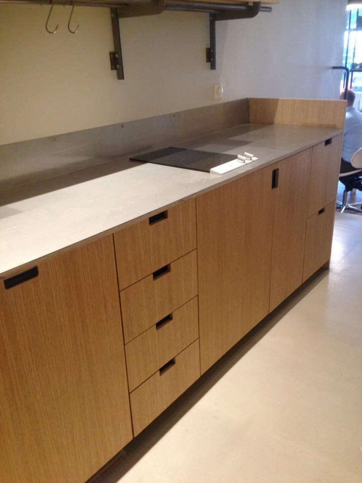 platsbyggt kök ek plywood rostfritt moderskeppet stockholm