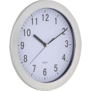 Buy Chrome Wall Clock at Argos.co.uk - Your Online Shop for Clocks. £4.99