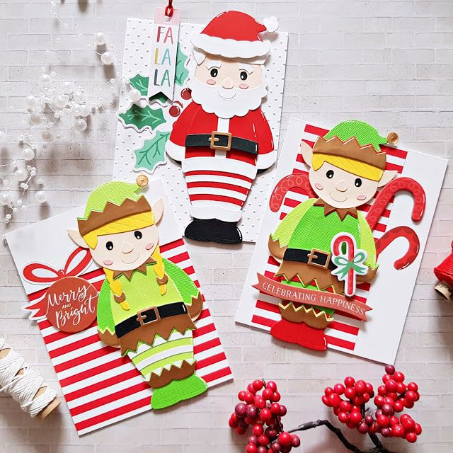 In The Spotlight Spellbinders Small And Large Die Of The Month Kits November A Pocket Full Of Scrap Spellbinders Shaped Cards Christmas Cards