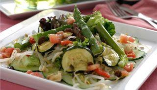 Cocina para Diabeticos, Ensalada de Esparragos y Pepino  #Nutrición y #Salud YG > nutricionysaludyg.com