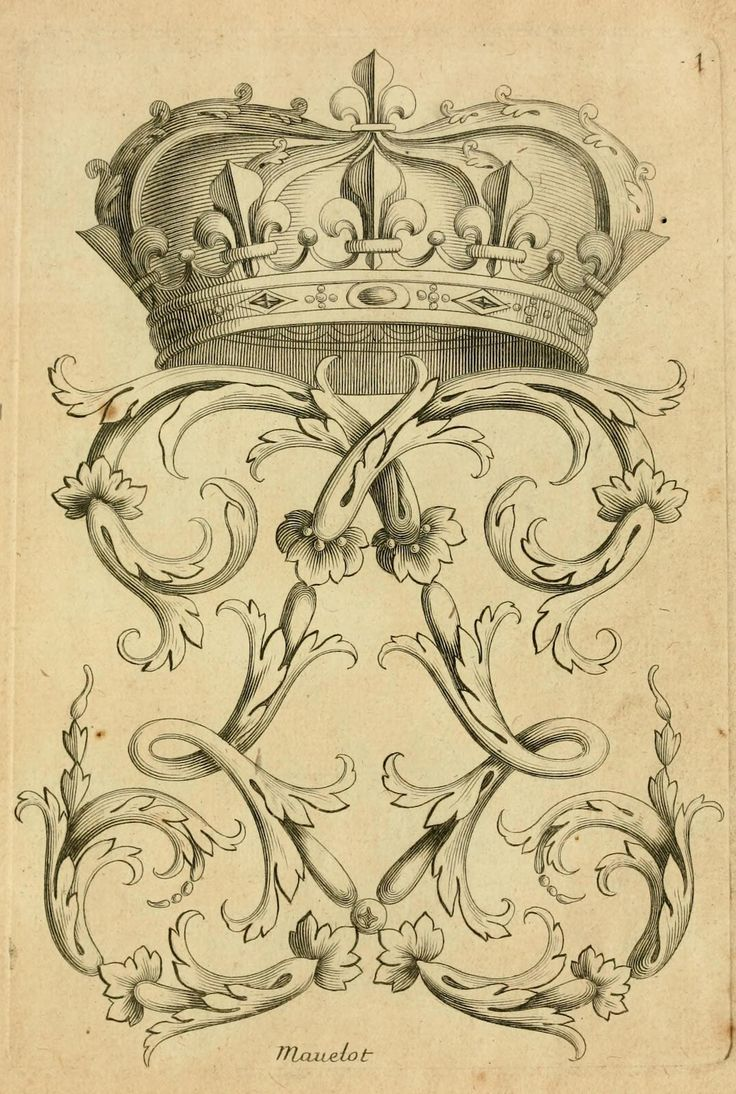 Printable - French Crown and Flourish