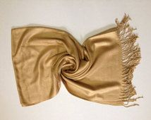 Camel-Gold Pashmina,  Gold Pashmina Shawls, Gold Pashmina , Gold Shawl, Pashmina Scarf, Bridesmaid Shawl, Wedding Gift, Wrap, Gift, Scarf