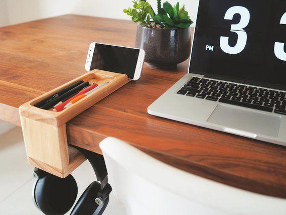 Desk Organiser With Headphone Holder Fathers Day Gift Desk