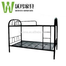cheap black used bunk beds bedroom furniture sets / metal double bed / iron bunk bed for sale
