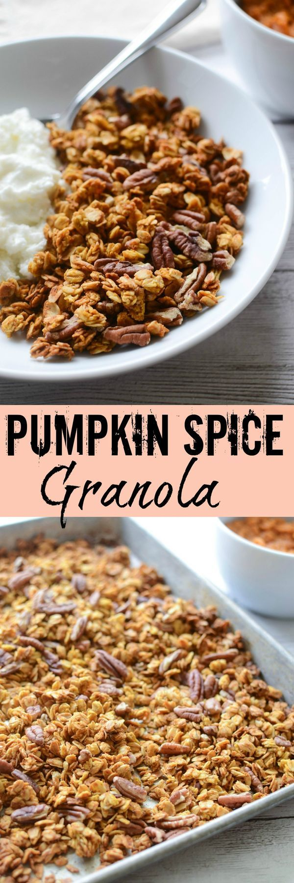 Homemade Pumpkin Spice Granola - crunchy and delicious! Perfect for breakfast or a healthy snack!