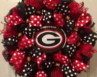 Georgia Bulldogs Wreath Georgia Wreath Georgia by PollysPinkTurtle