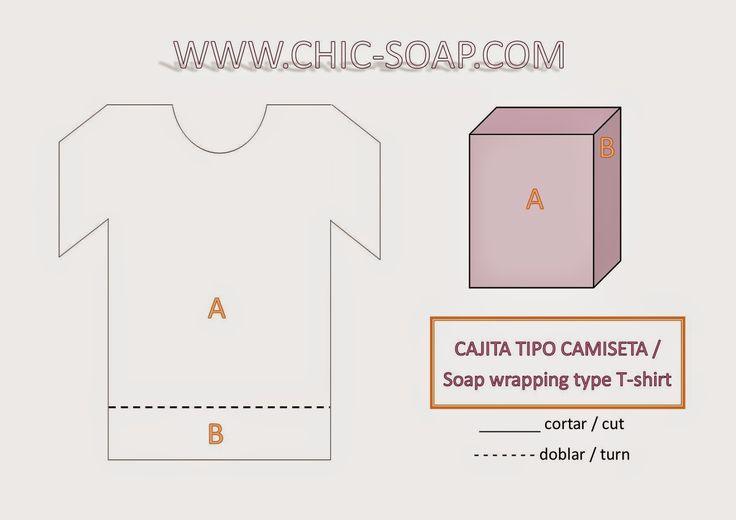 www.chic-soap.com: Envoltorio para jabón tipo Camiseta - Soap wrapping type T-shirt