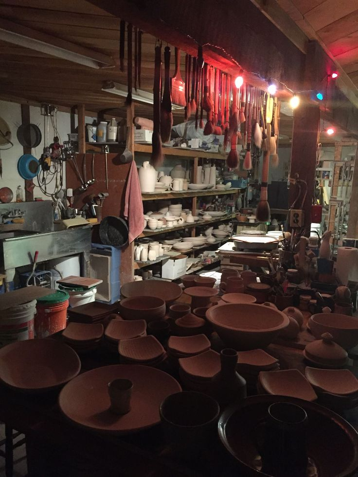 Bill Van Gilder Getting Ready To Glaze Pottery Tools