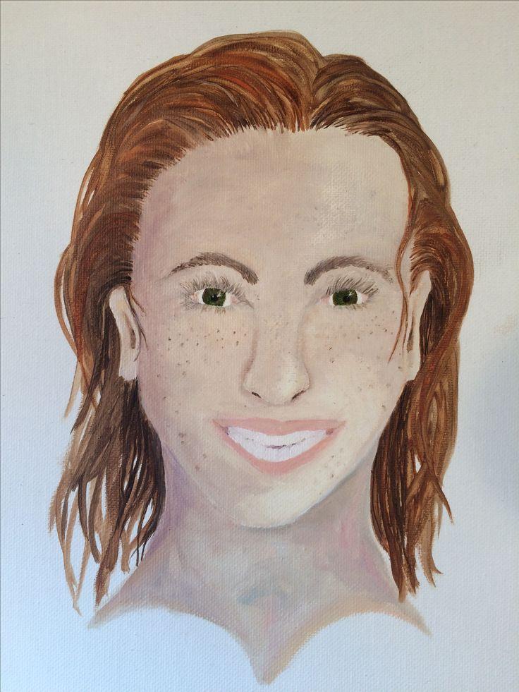 Attempt at self portrait. Oils paint