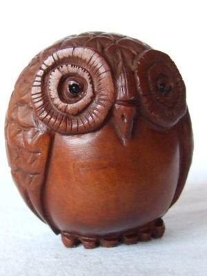owl netsuke