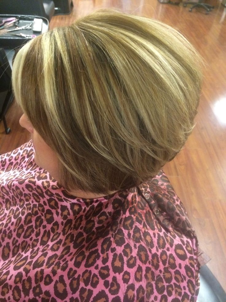 Blonde Highlights Copper Red Lowlights Stacked Bob🎀 My
