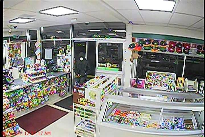 "On 9/13/13 at 12:51 am, a gunman entered the 7-11 store located at 2065 White Oak Ln. and demanded money from the clerk. After the robbery, he ran south through the parking lot. The gunman is described as a Hispanic male, 18 to 20 years old, 5'10"" to 6'0"", and 175 lbs. He was wearing a hooded sweatshirt, dark blue jeans, and a white bandana partially covering his face.   Anyone with information, please call Sergeant Hoesing at (408) 615-4814."