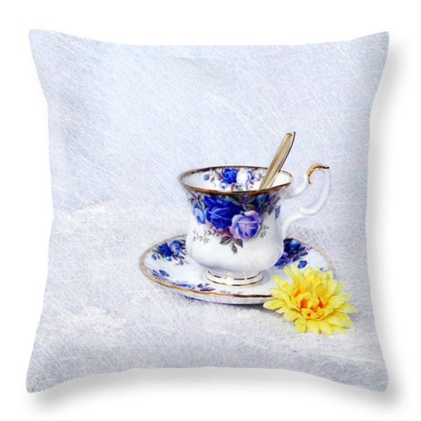 Throw Pillow featuring the photograph Memories In A Cup by Randi Grace Nilsberg