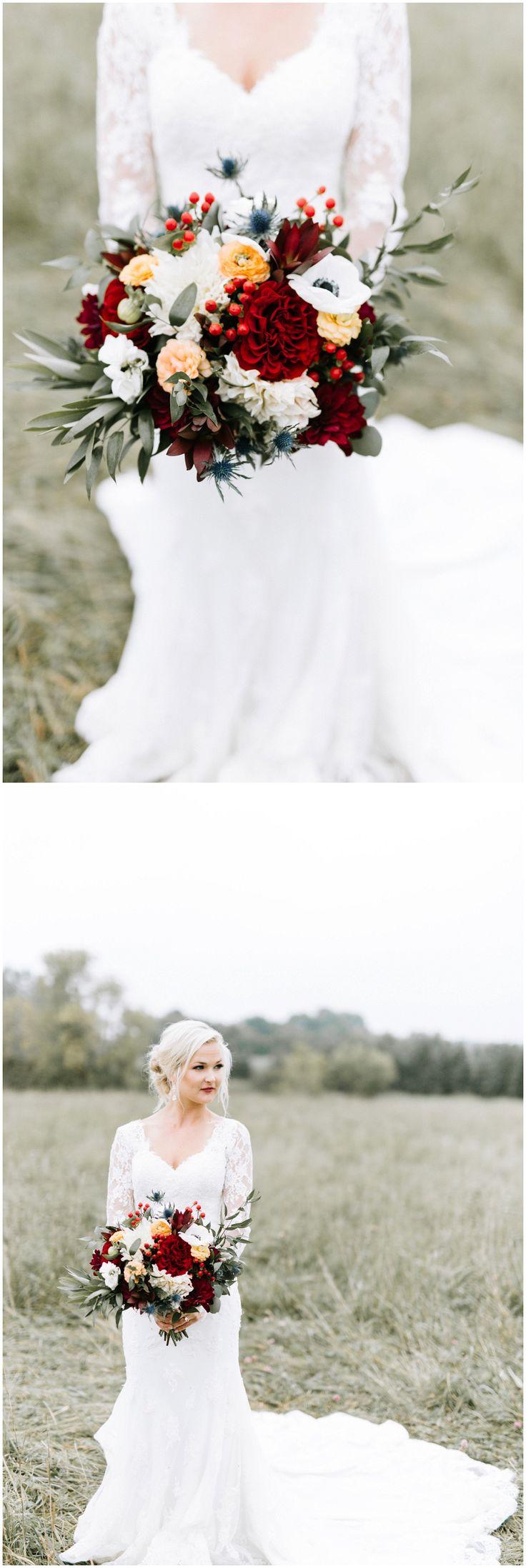 Bridal bouquet designed by Minneapolis wedding florist Artemisia Studios. Photo by Kate Becker Photography.