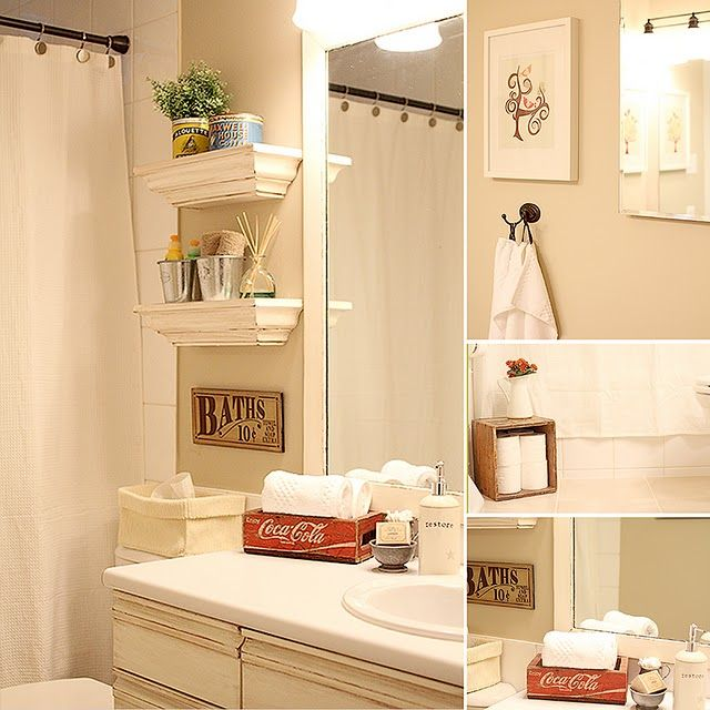 Vintage bathroom decor at Perfectly Pretty