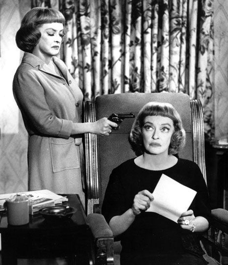 Bette Davis and Bette Davis in Dead Ringer (1964), her second time playing identical twins.