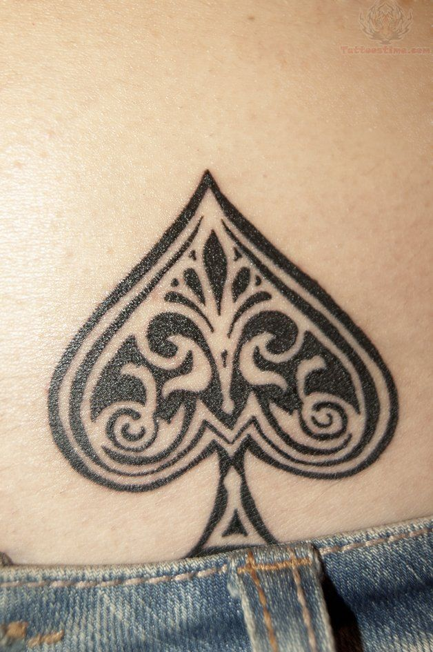 The Ace Poker Tattoo On Lower Back