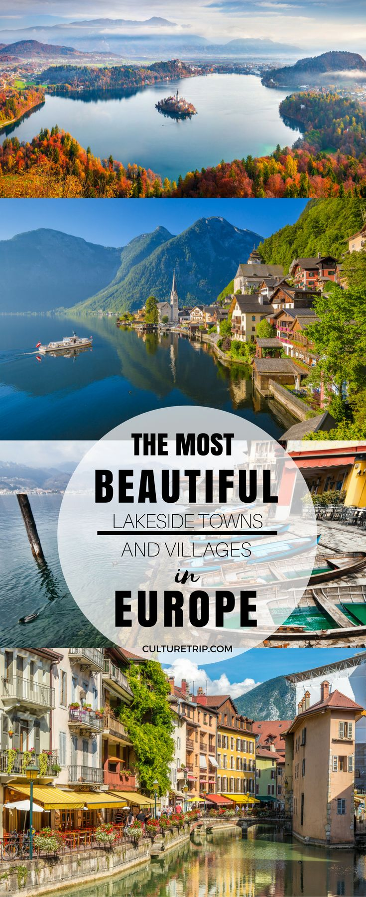 The 15 Most Beautiful Lakeside Towns and Villages in Europe|Pinterest: theculturetrip