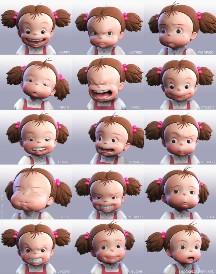 Mei expressions from  d8Ds. Go and see his post: http://www.zbrushcentral.com/showthread.php?72270-Mei-HMC-15-expressions