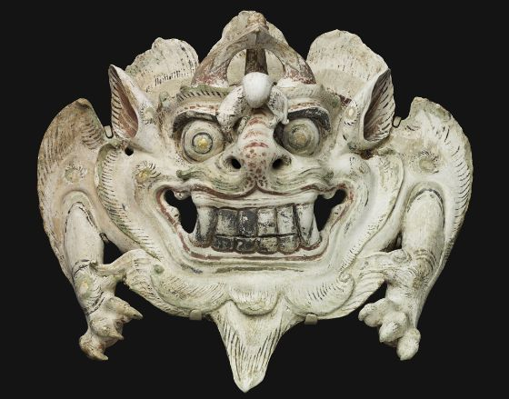 """Large """"Pushou"""" Monster Mask, late 7th-early 8th Century, Harvard Art Museums/Arthur M. Sackler Museum."""