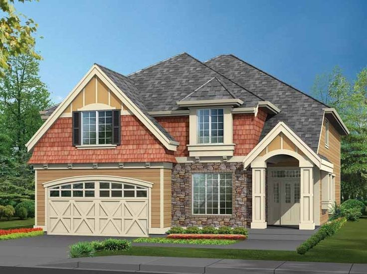 Craftsman House Plan with 2960 Square Feet and 3 Bedrooms