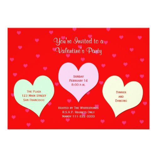 valentines day party invitations valentines day party invitation red valentine