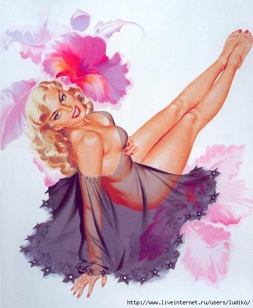 Bill Randall Vintage Pin Up Girl Illustration | Pin-Up Girls | Sugary.Sweet | #PinUp #Art #Vintage #Illustration