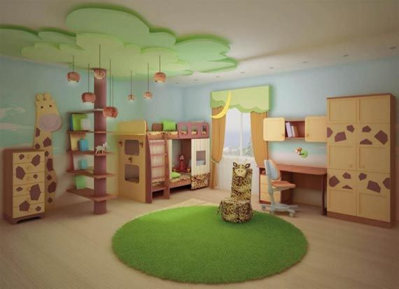 """I was looking for a """"monkeys jumping on the bed"""" theme for the boys next room and came across this...AJ and Alex love it, but I don't know about space.  I love the tree bookcase...this will have to be a """"wait and see"""" what we have to work with before we decide on the elements to use."""
