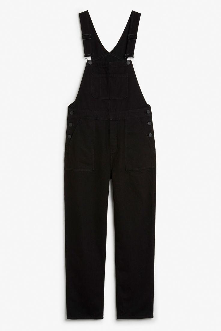 Black denim dungarees - Black magic - Jumpsuits - Monki GB