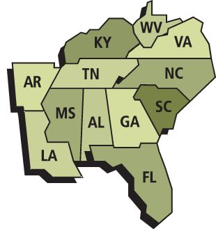 The early Cherokee Indians lived mostly in the south. They lived in Georgia, Alabama, Kentucky, South and North Carolina, Tennessee, and West Virginia.