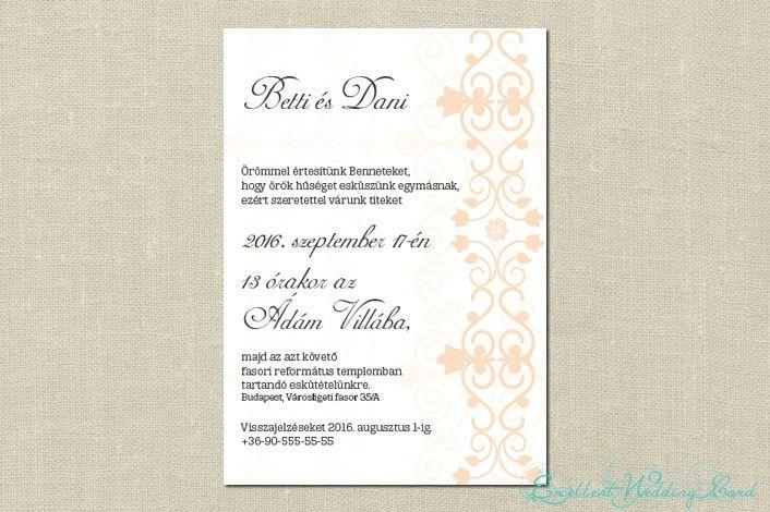Pure elegance esküvői meghívó