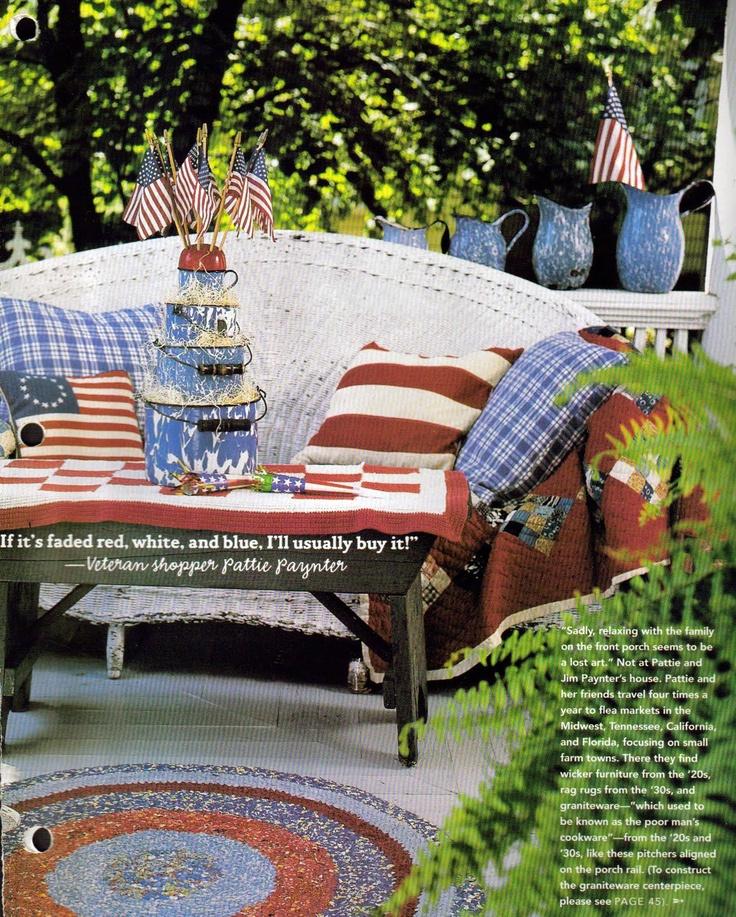 Patriotic Porches   Ideas For Decorating For July 4th.