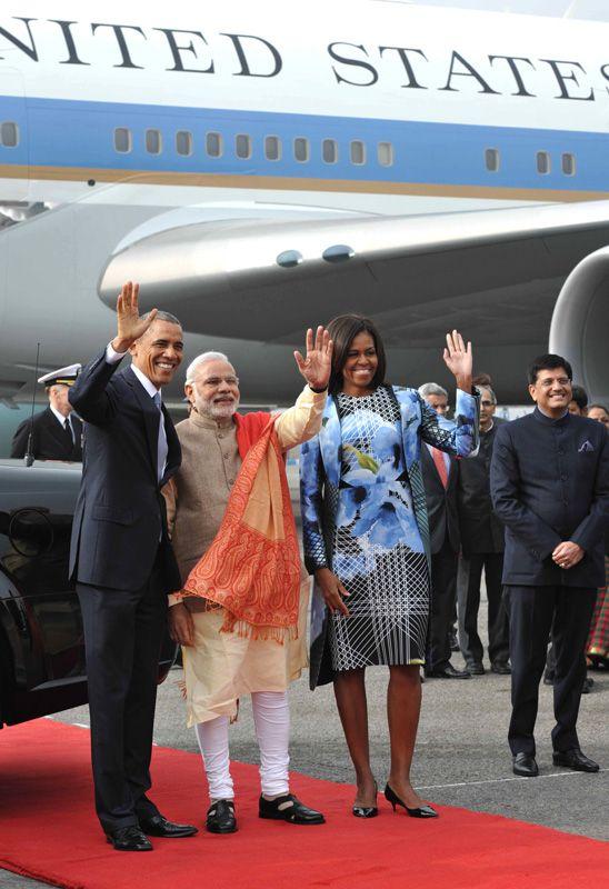 Barack Obama in India with Narendra Modi