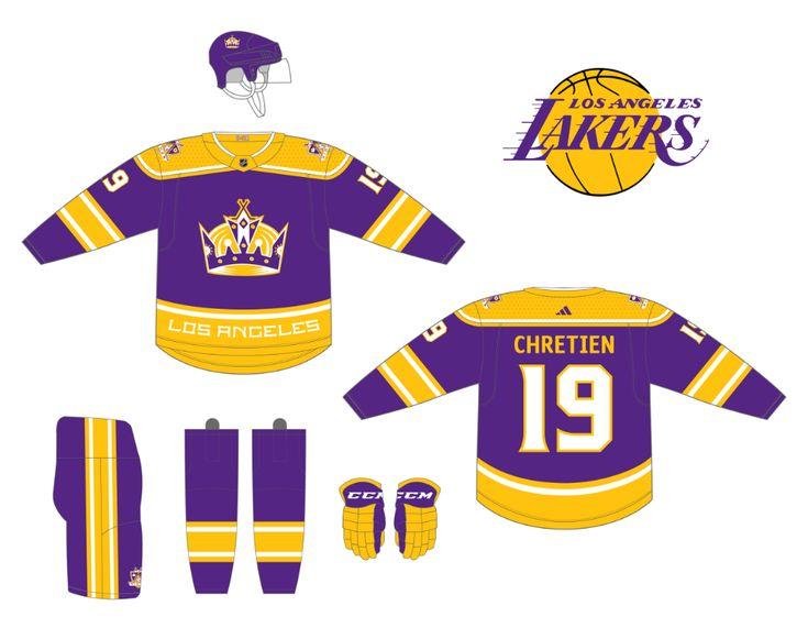 LA Kings LA Lakers home jersey in 2021 | Nhl jerseys, Jersey ...