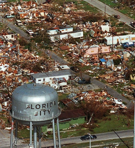 In 1992 Hurricane Andrew devestated many parts of southern Florida - killing 41 people and causing beyond 26 billion in damages.