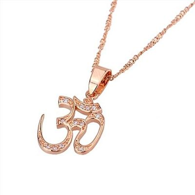 36 best buddhist hindu jewelry by shanti spiritual jewelry images rose gold om pendant necklace spiritual jewelry this beautiful rose gold plated om symbol mozeypictures Choice Image