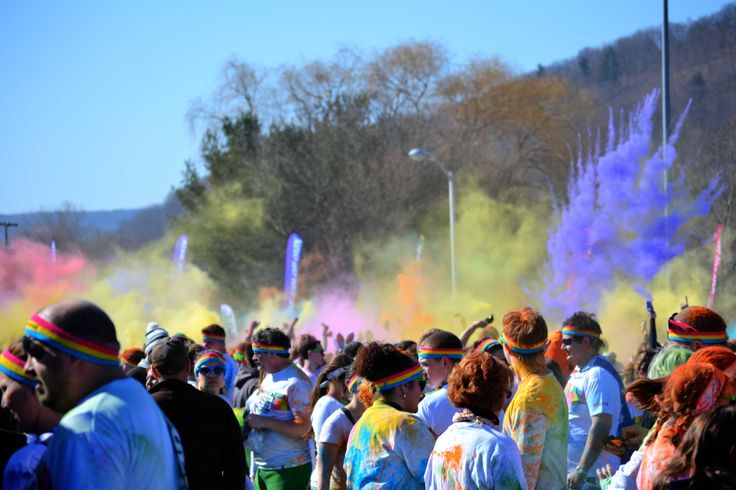 The Color Run 5k at Broome Community College 4/6/14