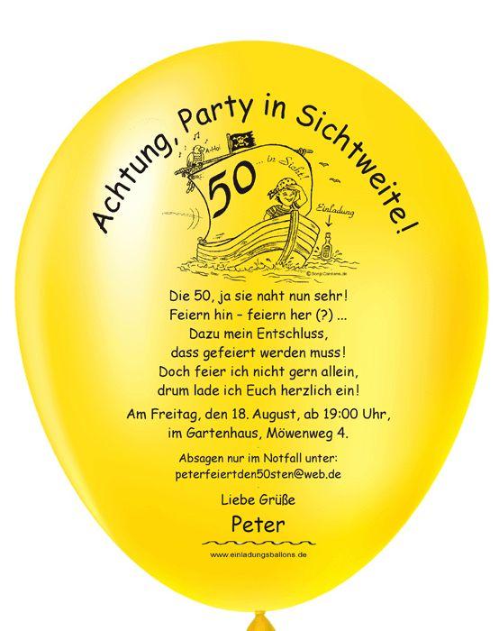 Geburtstagseinladung Text 50
